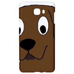 Chocolate Labrador Cartoon Samsung C9 Pro Hardshell Case