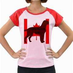 Chocolate Labrador Retriever Name Silo Canadian Flag Women s Cap Sleeve T-Shirt