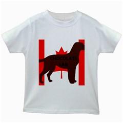 Chocolate Labrador Retriever Name Silo Canadian Flag Kids White T-Shirts