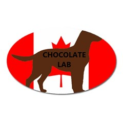 Chocolate Labrador Retriever Name Silo Canadian Flag Oval Magnet