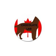 Chocolate Labrador Retriever Name Silo Canadian Flag Golf Ball Marker (4 pack)