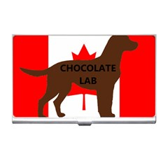 Chocolate Labrador Retriever Name Silo Canadian Flag Business Card Holders