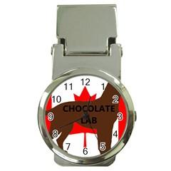 Chocolate Labrador Retriever Name Silo Canadian Flag Money Clip Watches