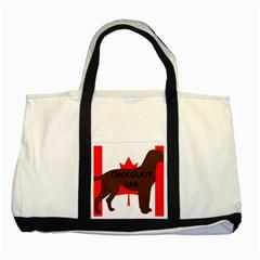 Chocolate Labrador Retriever Name Silo Canadian Flag Two Tone Tote Bag