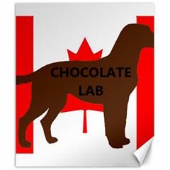 Chocolate Labrador Retriever Name Silo Canadian Flag Canvas 20  x 24