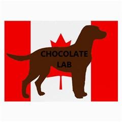 Chocolate Labrador Retriever Name Silo Canadian Flag Large Glasses Cloth