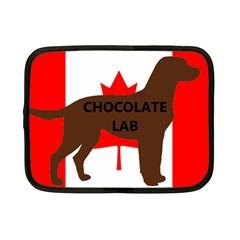 Chocolate Labrador Retriever Name Silo Canadian Flag Netbook Case (Small)