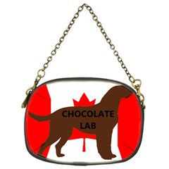 Chocolate Labrador Retriever Name Silo Canadian Flag Chain Purses (One Side)