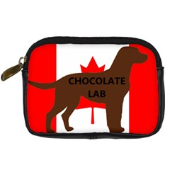 Chocolate Labrador Retriever Name Silo Canadian Flag Digital Camera Cases