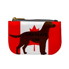 Chocolate Labrador Retriever Name Silo Canadian Flag Mini Coin Purses