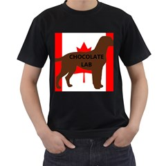 Chocolate Labrador Retriever Name Silo Canadian Flag Men s T-Shirt (Black)