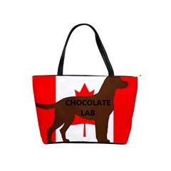 Chocolate Labrador Retriever Name Silo Canadian Flag Shoulder Handbags