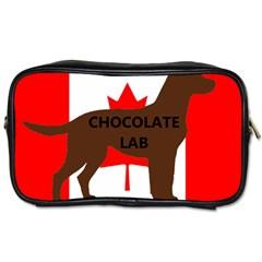 Chocolate Labrador Retriever Name Silo Canadian Flag Toiletries Bags