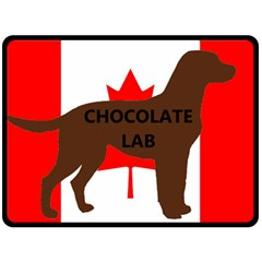 Chocolate Labrador Retriever Name Silo Canadian Flag Fleece Blanket (Large)