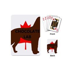 Chocolate Labrador Retriever Name Silo Canadian Flag Playing Cards (Mini)