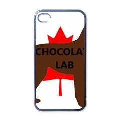 Chocolate Labrador Retriever Name Silo Canadian Flag Apple iPhone 4 Case (Black)