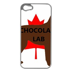 Chocolate Labrador Retriever Name Silo Canadian Flag Apple iPhone 5 Case (Silver)