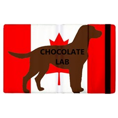 Chocolate Labrador Retriever Name Silo Canadian Flag Apple iPad 3/4 Flip Case