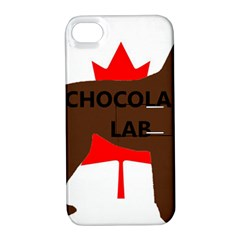 Chocolate Labrador Retriever Name Silo Canadian Flag Apple iPhone 4/4S Hardshell Case with Stand