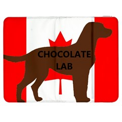 Chocolate Labrador Retriever Name Silo Canadian Flag Samsung Galaxy Tab 7  P1000 Flip Case