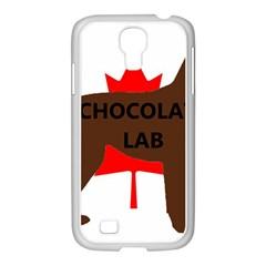 Chocolate Labrador Retriever Name Silo Canadian Flag Samsung GALAXY S4 I9500/ I9505 Case (White)