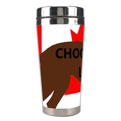 Chocolate Labrador Retriever Name Silo Canadian Flag Stainless Steel Travel Tumblers