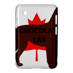 Chocolate Labrador Retriever Name Silo Canadian Flag Samsung Galaxy Tab 2 (7 ) P3100 Hardshell Case