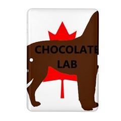 Chocolate Labrador Retriever Name Silo Canadian Flag Samsung Galaxy Tab 2 (10.1 ) P5100 Hardshell Case