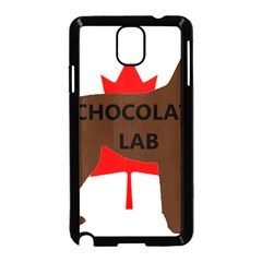Chocolate Labrador Retriever Name Silo Canadian Flag Samsung Galaxy Note 3 Neo Hardshell Case (Black)