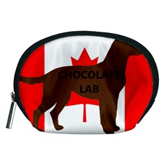 Chocolate Labrador Retriever Name Silo Canadian Flag Accessory Pouches (Medium)