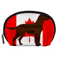 Chocolate Labrador Retriever Name Silo Canadian Flag Accessory Pouches (Large)