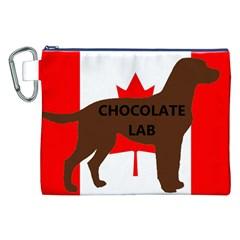 Chocolate Labrador Retriever Name Silo Canadian Flag Canvas Cosmetic Bag (XXL)
