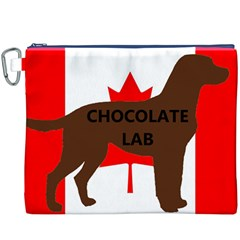 Chocolate Labrador Retriever Name Silo Canadian Flag Canvas Cosmetic Bag (XXXL)