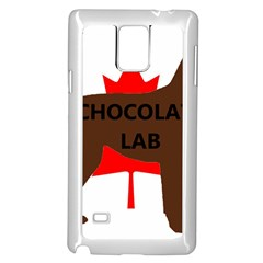 Chocolate Labrador Retriever Name Silo Canadian Flag Samsung Galaxy Note 4 Case (White)