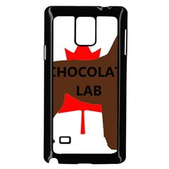 Chocolate Labrador Retriever Name Silo Canadian Flag Samsung Galaxy Note 4 Case (Black)