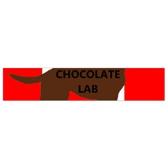 Chocolate Labrador Retriever Name Silo Canadian Flag Flano Scarf (Small)