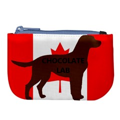 Chocolate Labrador Retriever Name Silo Canadian Flag Large Coin Purse