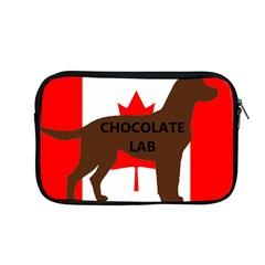 Chocolate Labrador Retriever Name Silo Canadian Flag Apple MacBook Pro 13  Zipper Case