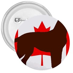 Chocolate Labrador Retriever Silo Canadian Flag 3  Buttons