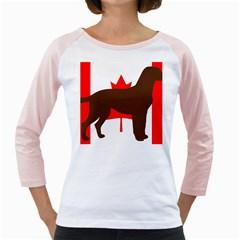 Chocolate Labrador Retriever Silo Canadian Flag Girly Raglans