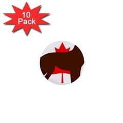 Chocolate Labrador Retriever Silo Canadian Flag 1  Mini Buttons (10 pack)