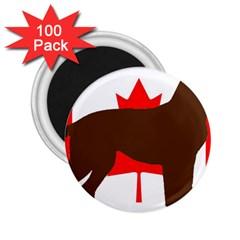 Chocolate Labrador Retriever Silo Canadian Flag 2.25  Magnets (100 pack)