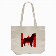 Chocolate Labrador Retriever Silo Canadian Flag Tote Bag (Cream)