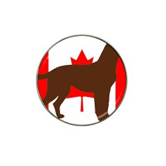 Chocolate Labrador Retriever Silo Canadian Flag Hat Clip Ball Marker