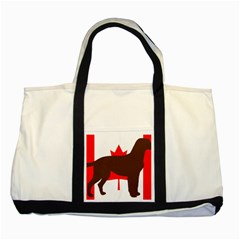 Chocolate Labrador Retriever Silo Canadian Flag Two Tone Tote Bag