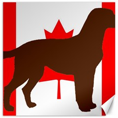 Chocolate Labrador Retriever Silo Canadian Flag Canvas 12  x 12