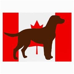 Chocolate Labrador Retriever Silo Canadian Flag Large Glasses Cloth