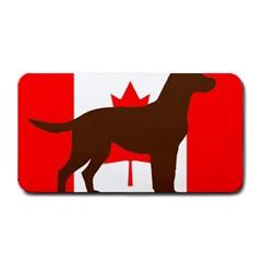 Chocolate Labrador Retriever Silo Canadian Flag Medium Bar Mats