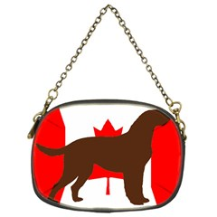 Chocolate Labrador Retriever Silo Canadian Flag Chain Purses (One Side)