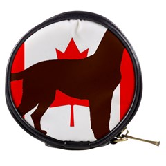 Chocolate Labrador Retriever Silo Canadian Flag Mini Makeup Bags